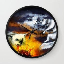 Hati and Skoll Wall Clock