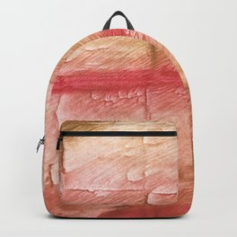 Red Pink stained watercolor texture Backpack