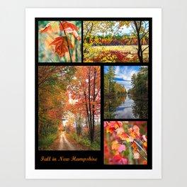Fall Collage Art Print