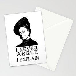 I never Argue - I Explain Stationery Cards