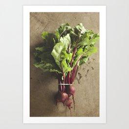 dropped the beet Art Print
