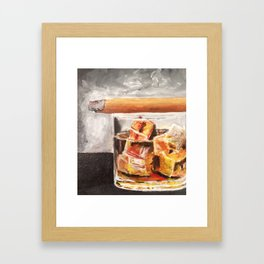 Whiskey and a cigar Framed Art Print