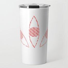 soul eater- kishin eyes typograpgh Travel Mug