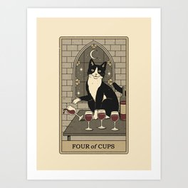 Four of Cups Art Print