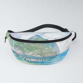 Amazing View of Pitons In Saint Lucia Fanny Pack