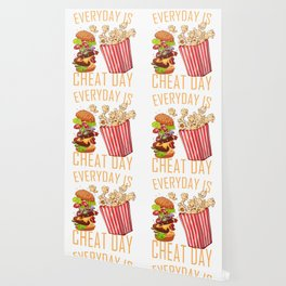 Everyday is Cheat Day Food Gift Wallpaper