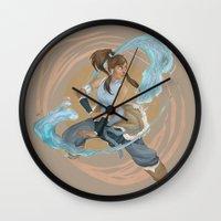 korra Wall Clocks featuring Korra by Vaahlkult