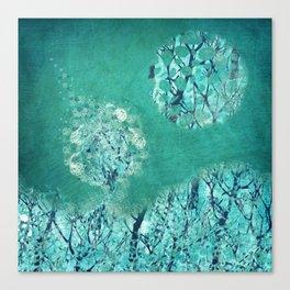 Frosty Moon Canvas Print