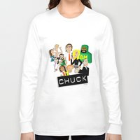 chuck Long Sleeve T-shirts featuring CHUCK by Seedoiben
