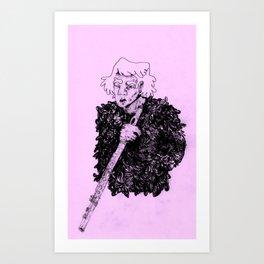 Flute Guy Art Print