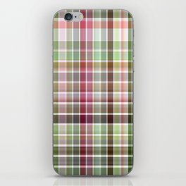 Red Rose with Light 1 Plaid 2 iPhone Skin