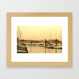 Harbor Sails Framed Art Print