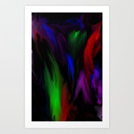 Flaring Colors Art Print