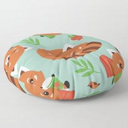 Happy Red Panda Floor Pillow