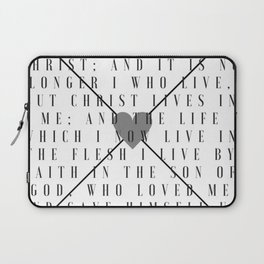 Galatians 2:20 | Scripture Print Laptop Sleeve