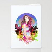 scorpio Stationery Cards featuring Scorpio by Sara Eshak