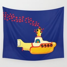 Yellow Submarine Bubbling Love Wall Tapestry