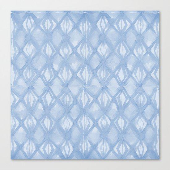Braided Diamond Sky Blue on Lunar Gray Canvas Print