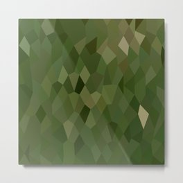 Jungle Green Abstract Low Polygon Background Metal Print