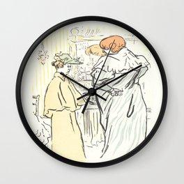 """Henri de Toulouse-Lautrec """"Alors vous êtes sages"""" Wall Clock"""