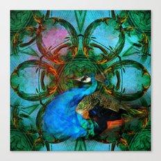 The peacock universe Canvas Print