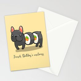 French bulldog maki sushi Stationery Cards