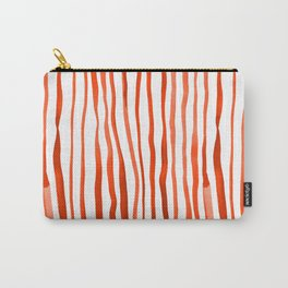 Vertical watercolor lines - orange Carry-All Pouch