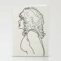 dolly parton Stationery Cards featuring Dolly Parton Embroidery by Little Stabs