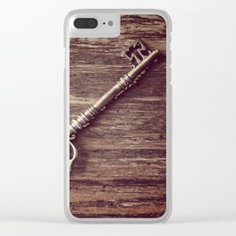 Just a Plain Ole' Prop Key Clear iPhone Case