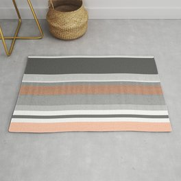 Peach & Cement Structure & Warmth Color Therapy Texture Meditation Lines Rug