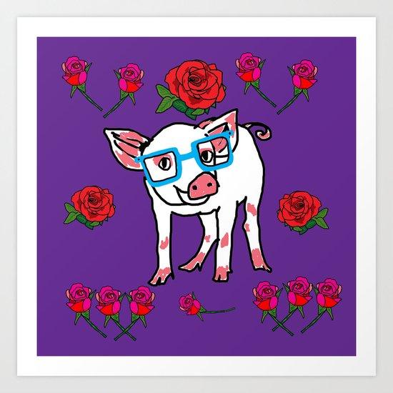 Piggy love Art Print