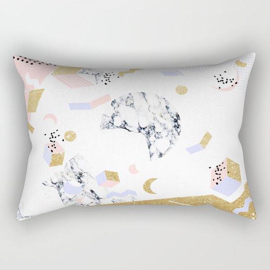 Marble Moon Abstraction #society6 #decor #buyart Rectangular Pillow