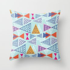 Geometric Mid Century Modern Triangles 2 Throw Pillow