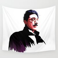 budapest Wall Tapestries featuring Adrien Brody - Grand Budapest by deathtowitches