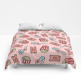 Movie Pattern in Pastel Pink Comforters