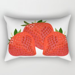 Sweet and crunchy organic strawberries Rectangular Pillow