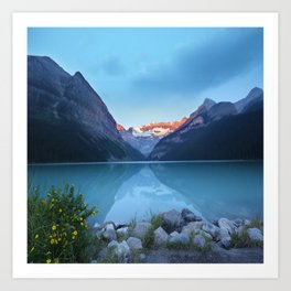 Mountains lake Art Print