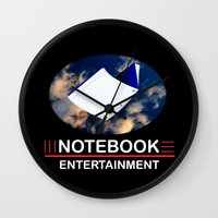 notebook Wall Clocks featuring Notebook Entertainment 2 by NotebookFilms
