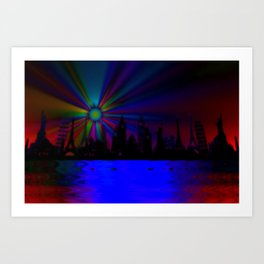 Dreaming all around the world ... Art Print
