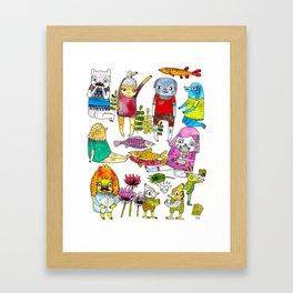 Critter collection Framed Art Print