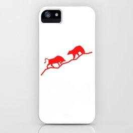 Bull Bear Chart Market Stock T-shirt Designs Marketing Strategy Trade Work Job Bull Bear Chart iPhone Case