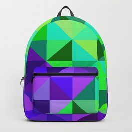 Green & Purple Digital Quilt Backpack