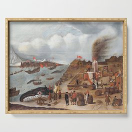 Abraham Speeck - Danish Whaling Station (1634) Serving Tray