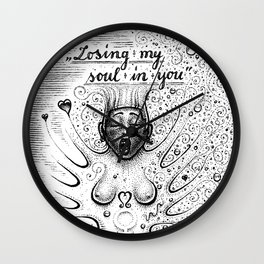 Losing My Soul In You Wall Clock