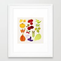 vegetables Framed Art Prints featuring Vegetables  by rusanovska