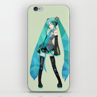 vocaloid iPhone & iPod Skins featuring Miku by Sally Taylor