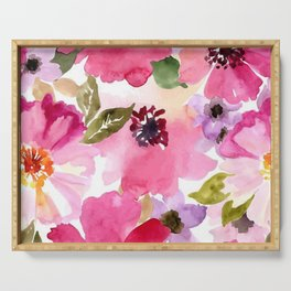 watercolor flower Serving Tray