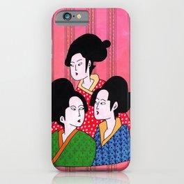 Geisha gossip iPhone Case