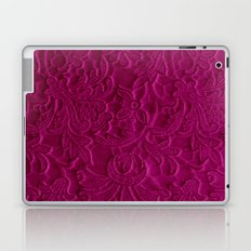 satiny flower in fushia Laptop & iPad Skin