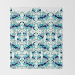 Hippopotamus Blue Throw Blanket